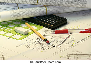 Engineering plans - various drafting related items concept...