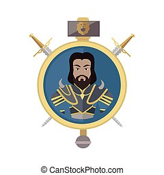 Coat of Arms Shield with Swords Illustration. - Coat of arms...