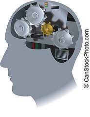 cogs brain illustration - The working of the brain