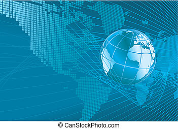 world map globe background - A dynamic 3d world map with...