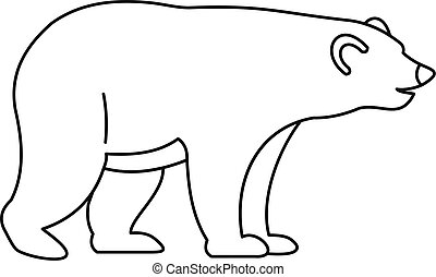Bear icon, outline style - Bear icon. Outline illustration...