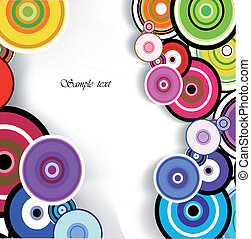 Abstract colorful ring background. Vector - Abstract...