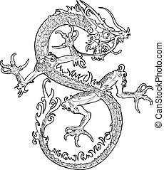 dragon illustration - An illustration of an oriental style...