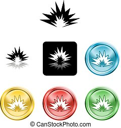 explosion icon symbol - Several versions of an icon symbol...