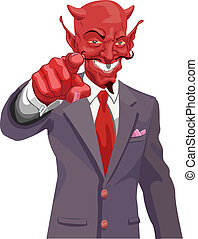 devil pointing illustration - The devil wants you Is the...