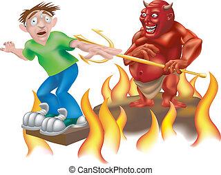 diabo, Ilustração