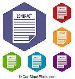 Contract icons set