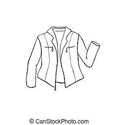 jacket outline symbol - Hand drawn leather jacket isolated...