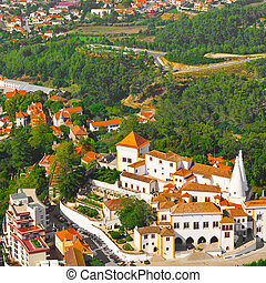 Sintra - View to Historic Center City of Sintra in Portugal