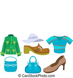 fashion set - A selection of clothes and fashion...