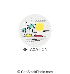 Relaxation Resort Area Holiday Vacation Destination Icon
