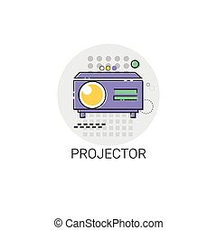Movie Projector Film Cinema Icon Vector Illustration