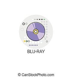 Blu-ray Compact Disk Storage Icon Vector Illustration