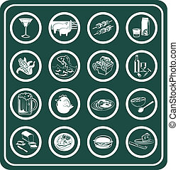 A set of food and drink icons