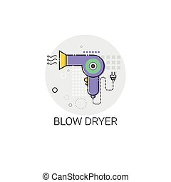 Blow Dryer Beauty Devices Icon Vector Illustration