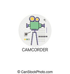 Camcorder Shooting Camera Film Production Industry Icon...