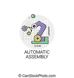 Automatic Assembly Machinery Industrial Automation Industry Production Icon
