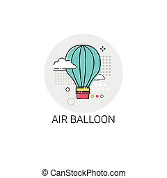 Air Balloon Trip Travel Tourism Icon