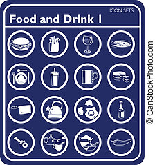 Food icon set - Food and drink icons