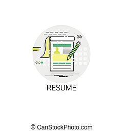 Resume CV Form Job Vacancy Recruitment Application Icon...