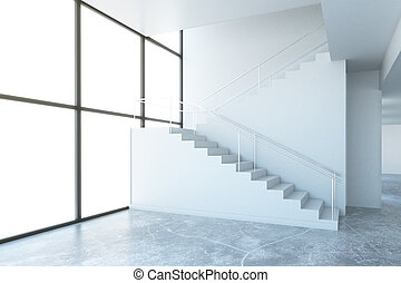 Room with stairs