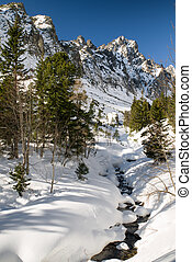Winter in mountains. High Tatras, Slovakia - Winter in High...