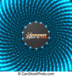 Vector Button Giveaway Competition Template - Illustration...
