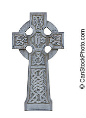 celtic tombstone cross isolated - grey celtic cross isolated...