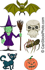 haloween elements - Halloween Illustrations