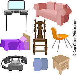furniture set - A selection of furniture