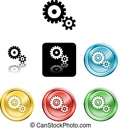 cog gears icon symbol icon - Several versions of an icon...