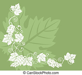 grapevine illustration background - a grape vine design...