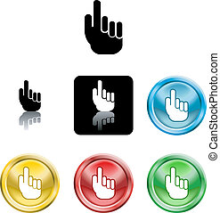 hand icon symbol - Several versions of an icon symbol of a...