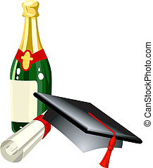 graduation illustration - Graduation celebration related...