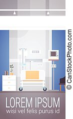 Hospital Room Interior Intensive Therapy Patient Ward Banner...