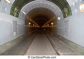 hamburg - elbtunnel old elbe tunnel hamburg