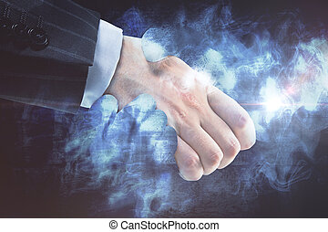 Creative business deal concept - Businessperson shaking...