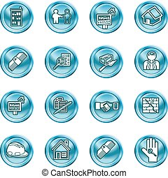 Real etate Icons - Icons or design elements related to home...