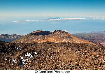 Panoramic view of Pico Viejo, El Teide National Park in...