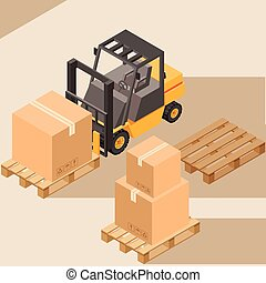 Loader with boxes icon2