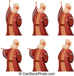 Set of Moses icons - Vector image of the Set of Moses icons