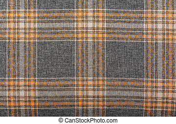 Repeating square pattern on cloth - Repeating square orange,...