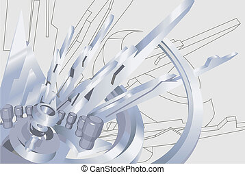 industrial illustration - an industrial / technological...