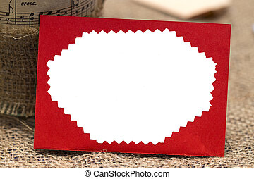 red envelope from white background, valentine concept