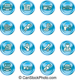 car dealer icons - Icons or design elements related to...