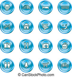 tourist icons set - Icon set relating to city or location...