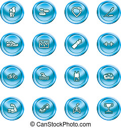 health and fitness icons - icons or design elements relating...