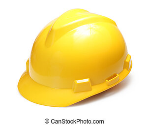 Hard hat - Yellow hard hat isolated on white