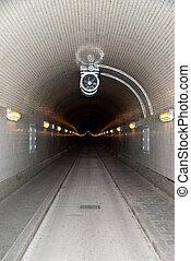 hamburg - elbtunnel / old elbe tunnel / hamburg