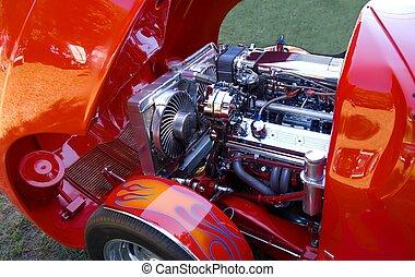 customized hot rod at car show Athens Georgia usa